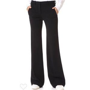 Theory Demitria Wide Leg Wool Pants